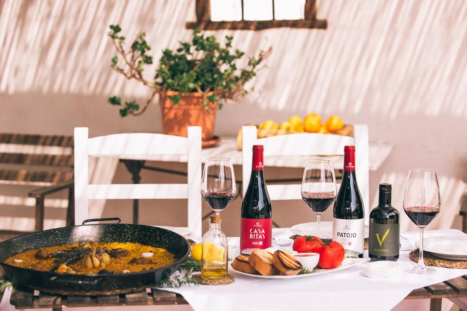 Vino dieta mediterránea